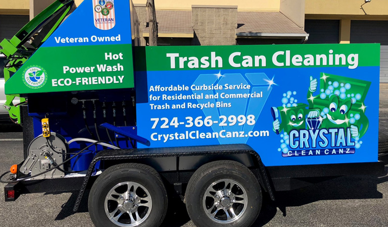 Crystal Clean Trash Can Cleaning Services
